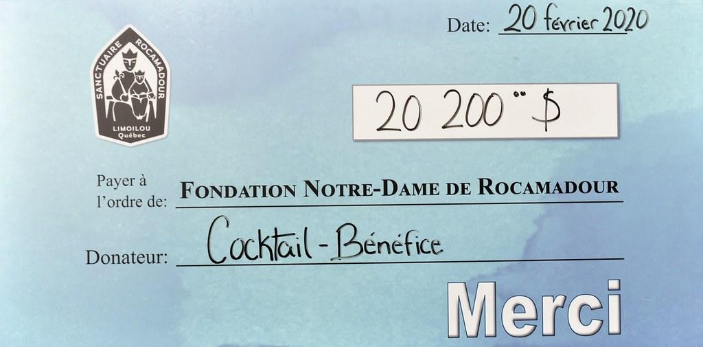 chèque cocktail-bénéfice